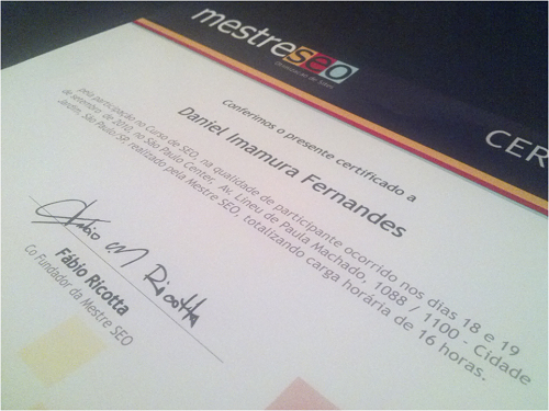 Certificado Mestre SE